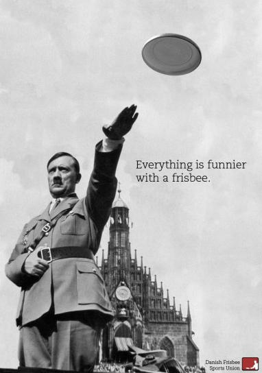 Everything is funnier with a frisbee