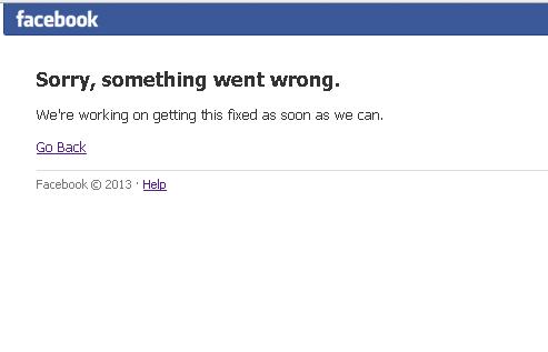 A cazut facebook-ul
