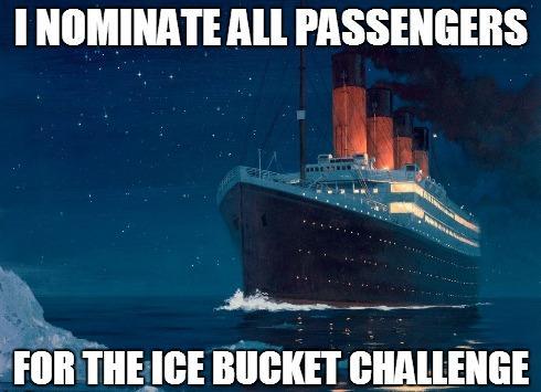 Titanic ice bucket challenge