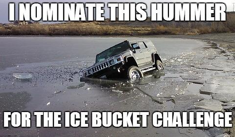 hummer doing ice bucket challenge
