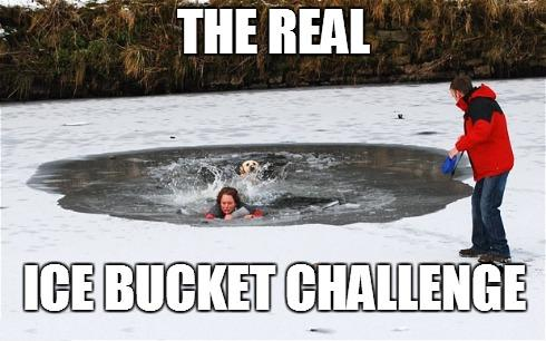 the real ice bucket challenge