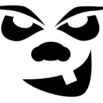 scary face pumpkin carving template