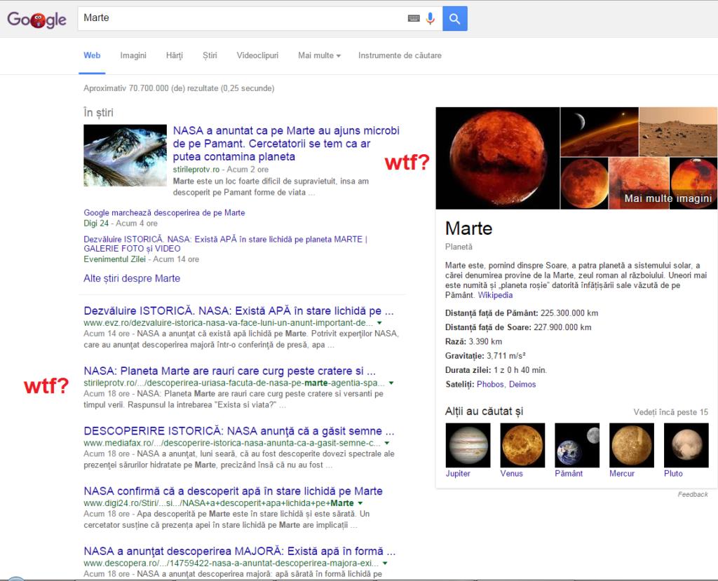 Microbi si apa pe Marte