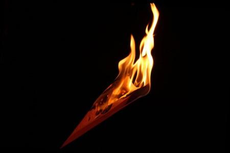 burning paperplane