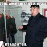 Kim Jong Un eating a jacket