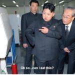 Kim Jong Un eating machine