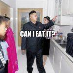 Kim Jong Un eats cupboard