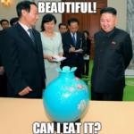 kim jong un eating vase