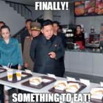 z - finally kim jong un eats something
