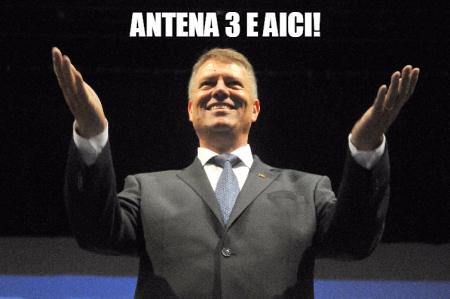 Klaus Iohannis - Antena 3 e aici